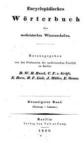 Encyclopaedisches Wörterbuch der medizinischen Wissenschaften, hrsg. von D. W. H. Busch, C. F. von Graefe (etc.) - Berlin, Boike 1828-1849