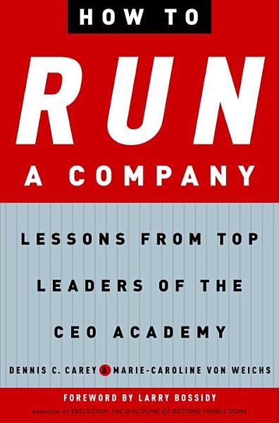 Download How to Run a Company Book