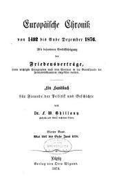 Europäische chronik von 1492 bis ende april 1865: Bd. Juli 1870 bis ende april 1877