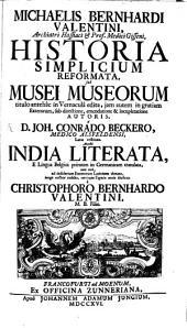 Historia simplicium reformata: sub Musei Museorum titulo antehac in vernacula edita