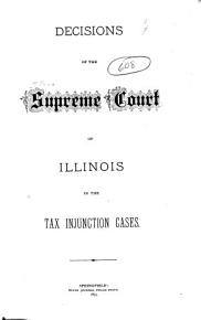 Decisions of the Supreme Court of Illinois in the Tax Injunction Cases PDF