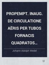Propempt. inaug. de circulatione aëris per tubos fornacis quadratos horizontales melius obtinenda