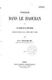 Voyage dans le Haouran et aux bords de la Mer morte, exécuté pendant les années 1857 et 1858