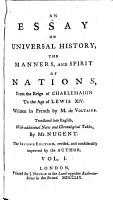 An Essay on Universal History  the Manners  and Spirit of Nations PDF