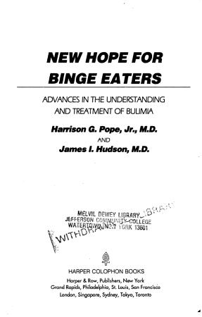 New Hope for Binge Eaters PDF
