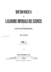 Mémoires de l'Académie impériale des sciences de Saint-Pétersbourg: Volume10