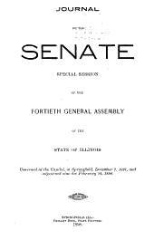 Journal of the Senate of the General Assembly: Volume 40