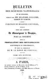 Bulletin des sciences naturelles et de géologie: Volume18