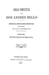 Obras completas de don Andrés Bello: Volumen 13