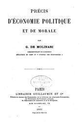 Précis d'économie politique et de morale