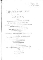 A Journey Over Land to India: Partly by a Route Never Gone Before by Any European