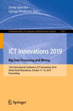 ICT Innovations 2019  Big Data Processing and Mining PDF