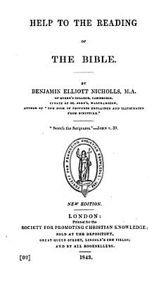Help to the Reading of the Bible PDF