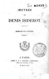 *Oeuvres completes de Diderot tome 1 [-26].: 5: Oeuvres de Denis Diderot. Romans et contes. Tome 1, Volume1