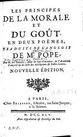 Les principes de la morale et Du gout en deux poèmes