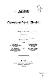 Revue de droit suisse: Band 1