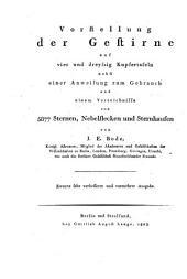 Vorstellung der Gestirne auf vier- und dreysig Kupfertafeln: nebst einer Anweisung zum Gebrauch, Band 2