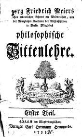 Philosophische Sittenlehre: Band 1