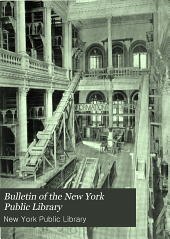 Bulletin of the New York Public Library: Volume 16