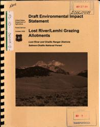 Salmon Challis National Forest  N F    Lost River Lemhi Grazing Allotments PDF