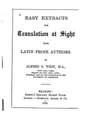 Easy Extracts for Translation at Sight from Latin Prose Authors