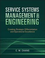 Service Systems Management and Engineering PDF