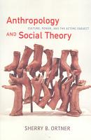 Anthropology and Social Theory PDF