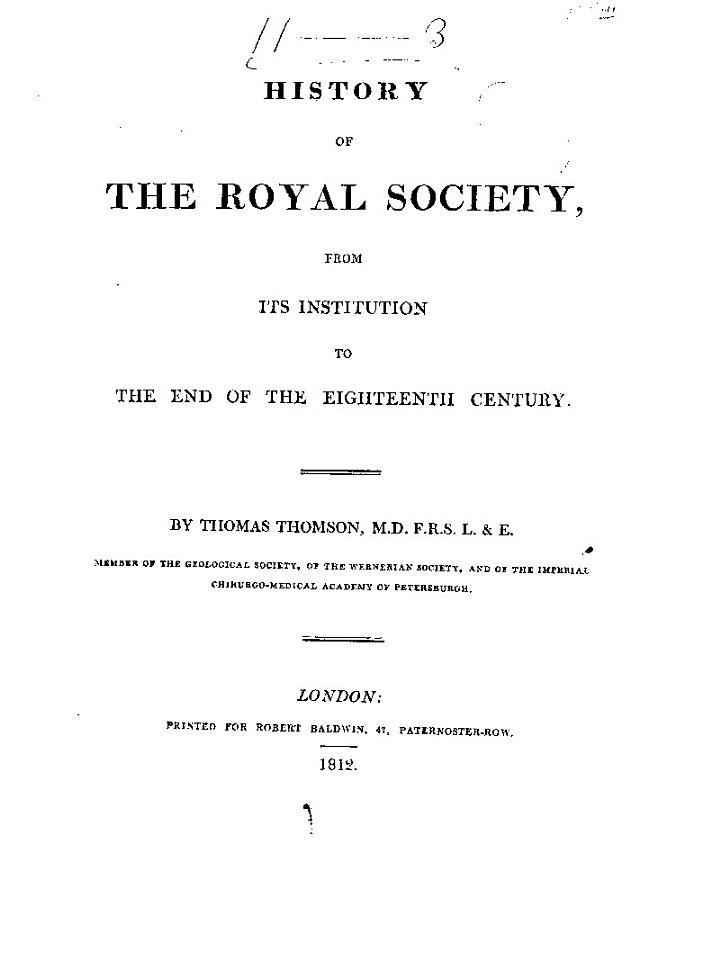 History of the Royal Society