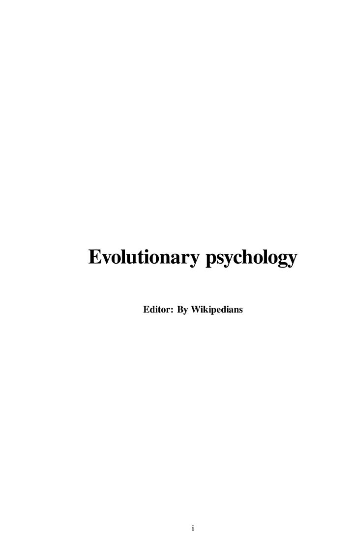 Evolutionary Psychology