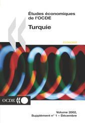 Études économiques de l'OCDE : Turquie 2002