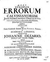 Synopsis Errorum Calvinianorum