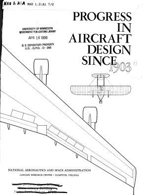 Progress in Aircraft Design Since 1903 PDF