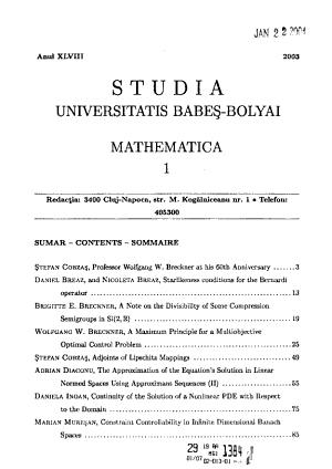 Studia Universitatis Babe   Bolyai PDF