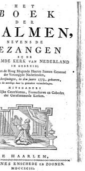 Het boek der psalmen, nevens de gezangen bij de Hervormde Kerk van Nederland in gebruik;