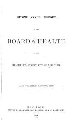 Annual Report of the Board of Health of the Department of Health of the City of New York for the Year Ending ...