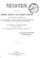 Parnaso cubano: Volumen 1