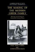 The Making of the Modern Greek Family PDF