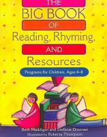 The Big Book of Reading  Rhyming and Resources PDF