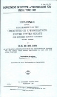 Department of Defense Appropriations for Fiscal Year 1997 PDF