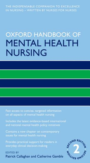 Oxford Handbook of Mental Health Nursing PDF