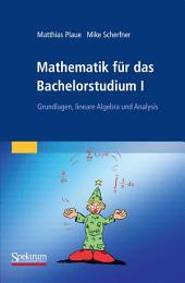 Mathematik für das Bachelorstudium I: Grundlagen, lineare Algebra und Analysis, Band 1