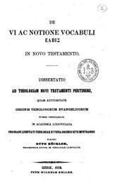 """De vi ac notione vocabuli """"elpis"""" in Novo Testamento: dissertatio ad theologiam Novi Testamenti pertinens..."""