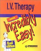 I V  Therapy Made Incredibly Easy  PDF