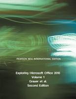 Exploring Microsoft Office 2010  Volume 1  Pearson New International Edition PDF