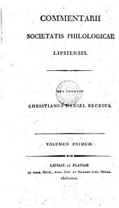 Commentarii, ed. curavit C.D. Beckius