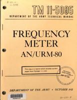 Frequency Meter AN URM 80 PDF
