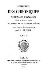 Les chroniques de Jean Froissart: Volume9