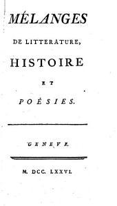 Mélanges de littérature, histoire et poésies
