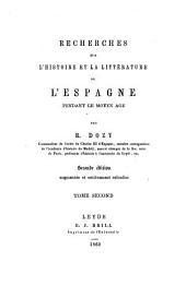 Recherches sur l'histoire et la littérature de l'Espagne pendant le moyen-âge