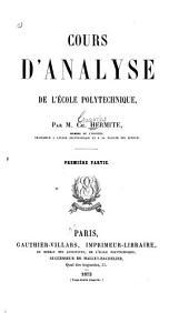 Cours d'analyse de l'École polytechnique: Première partie, Volume2